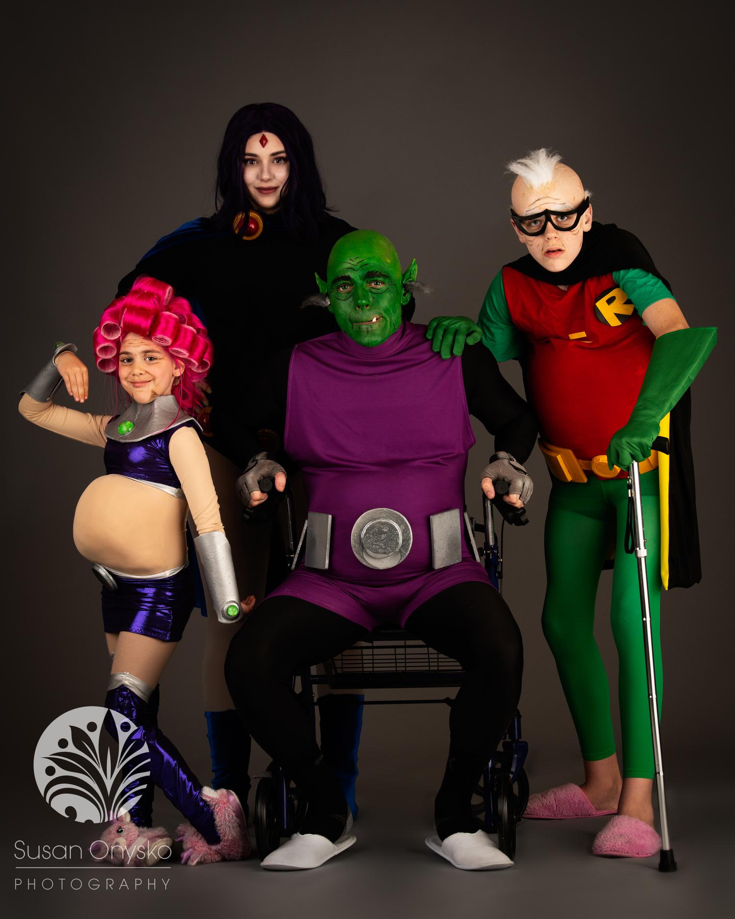 Elderly Teen Titans Cosplay