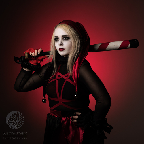 Dark Knight Inspired Harley Quinn Cosplay