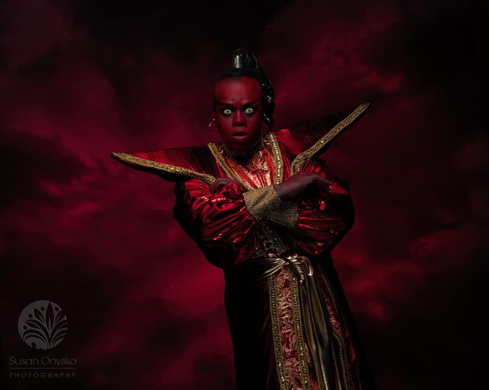 Evil Red Genie Cosplay