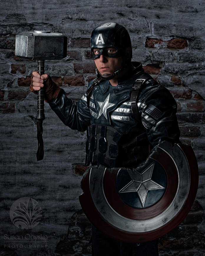 Stealth Captain America Cosplay